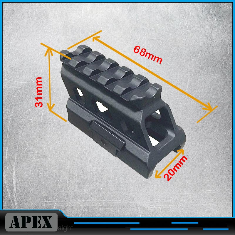 Mini Lightweight Rail Mount High Profile Riser Mount 3 Slots Scope Mount 20mm Dovetail Extend Rise Mount For Rifle