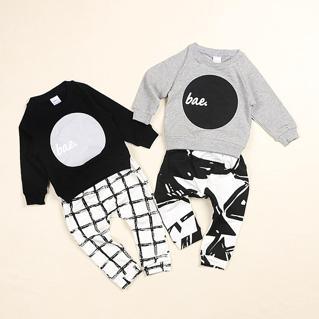 2016 PRIMAVERA roupas de bebê menino menina roupa do bebê nununu círculo padrão hoodies camisolas dos miúdos encostar roupa dos miúdos kikikids