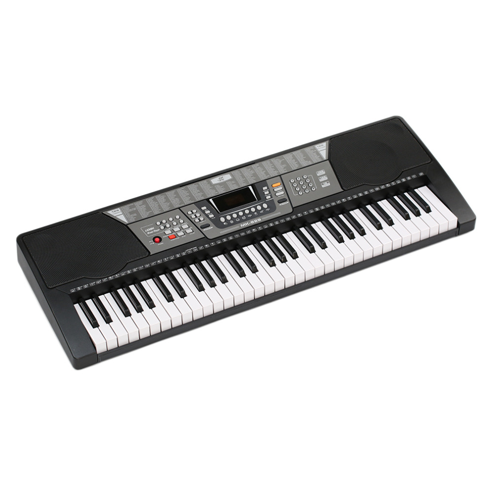 все цены на 61 Keys 110V Electronic Piano Electric Organ Keyboard- Black US Plug 100 Timbres/100 Rhythms/8 Percussions Ship From US онлайн