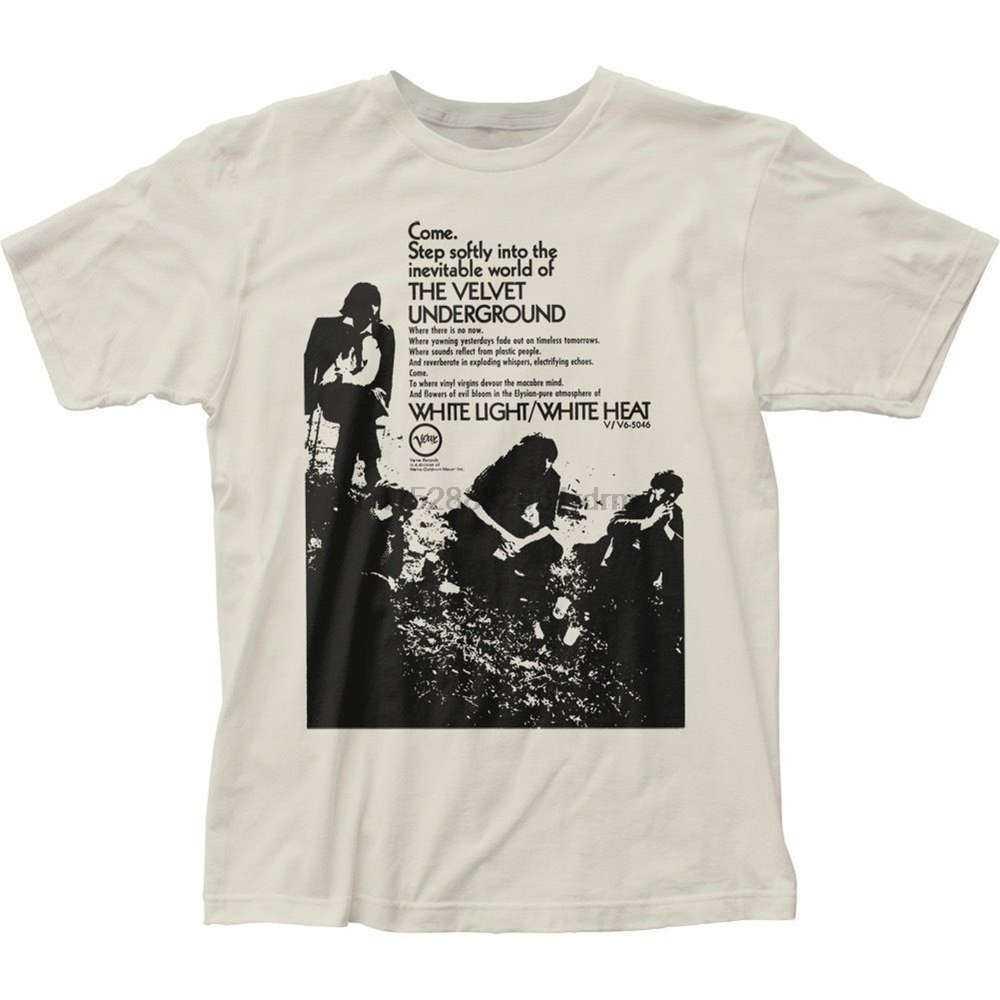 Высокое качество, Новый Стиль Аутентичные Velvet Underground Нико белый свет тепла приходите шаг мягко футболка Летний стиль футболка