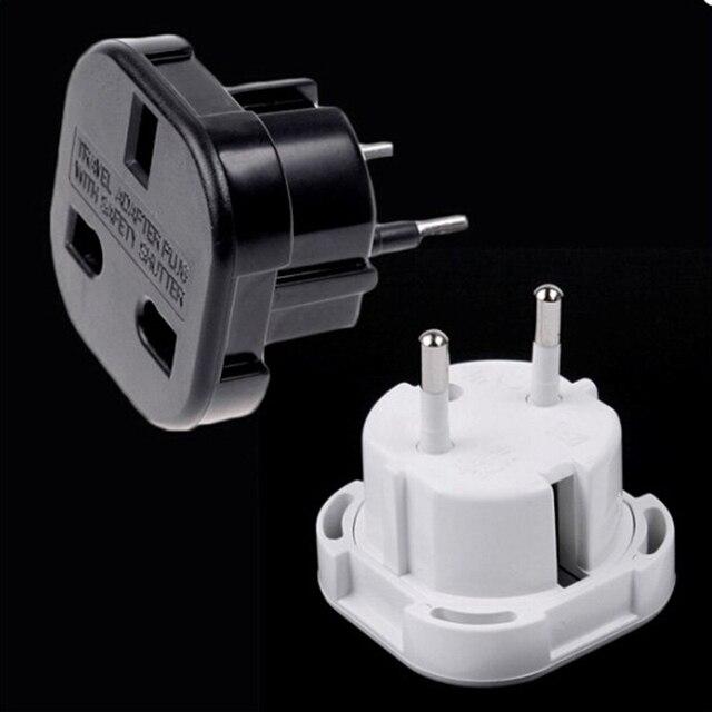 Negro/Blanco Reino Unido a Europa UNiVERSAL cargador adaptador enchufe convertidor 2 PiN enchufe de pared