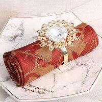 12/PCS creative metal sunflower napkin buckle western napkin ring high end hotel model room table napkin ring