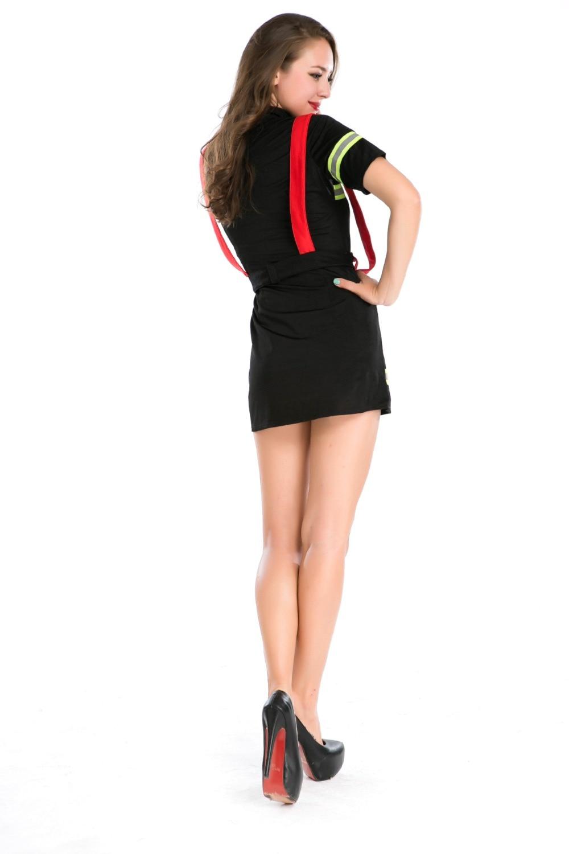 Ensen vrouwelijke brandweerman kostuums volwassen Nieuwe stijl sexy - Carnavalskostuums - Foto 4