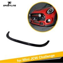 Для Mini JCW вызов- сухой углеродного волокна автомобиль передний бампер спойлер, диффузор