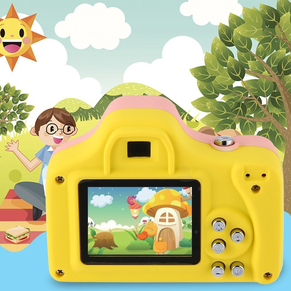 1.5 Inch 2MP 1080P Mini Camera Digital Camera for Kids Baby Cute Cartoon Multi-function Toy Camera Children Best Gift