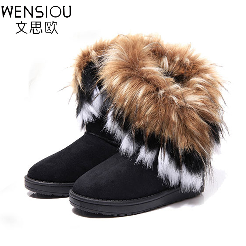 Hot Women Casual Winter Warm Ankle Boots Winter Ladies Fashion Snow Boots Handmade Solid Women Fur Boot Shoes Footwear BT3