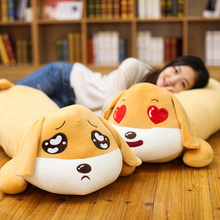 Fancytrader Giant Lying Dog Pillow Toys Soft Stuffed Cute Animals Expression Dog Doll 100cm 39inch