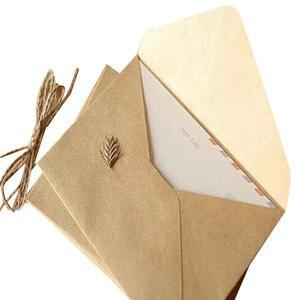 Paper Envelope Gift-Card Kraft Wedding Birthday-Party DIY for 50pieces Grain Rough Multifunction