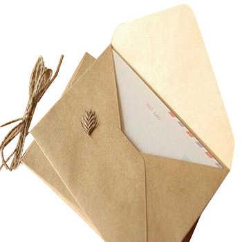 50 ชิ้นหยาบ grain บัตรของขวัญ DIY Multifunction กระดาษคราฟท์ซองจดหมาย 16*11 ซม. ของขวัญการ์ดซองสำหรับงานแต่งงานวันเกิด party - DISCOUNT ITEM  33% OFF อุปกรณ์ออฟฟิศและการเรียน
