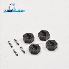 4PCS HSP 18016 Wheel Hex W/Pins(2*10) RC Car 1/10 Unlimited Climbing 4WD 4X4 Rock Crawler Pangolin Upgrade Spare Parts 94180 120mm 180007 aluminum shock absorber for hsp 94180 rc 1 10 climbing rock crawler car pangolin upgrade parts