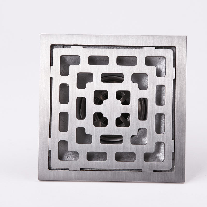 ФОТО 304 solid stainless steel 100 x 110mm square anti-odor floor drain bathroom  shower floor drain
