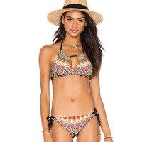Bikini Caliente 2017 Sexo Traje de Baño Vendaje de Las Mujeres de Playa traje de Baño Traje de Baño Brasileño Bikini Set Maillot De Bain Biquini