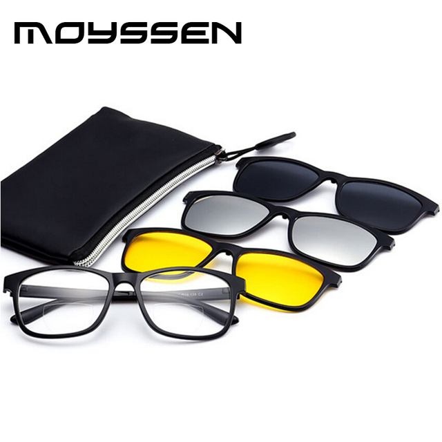 35a1825127 Outdoor Presbyopic Magnifier Driving Fishing Magnet Bifocal Reading Glasses  Set Night Vision Yellow Silver Polarized Grey Clips