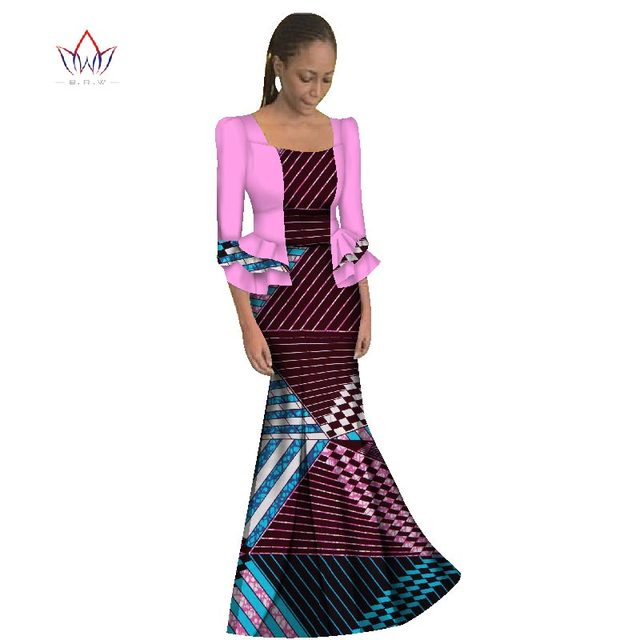 30a8be712ed8 2019 New African Maix Size Traditional Dress Casual Long Dresses Dashiki Dress  Africa Print Wax Long Sleeve Clothing WY1191