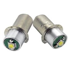 2pcs/lot 3000k 6000k P13.5s 5W Maglite LED Bulb Upgrade Conversion for 6d or 6c Cell Torch 3-18V 200lm white and warm white