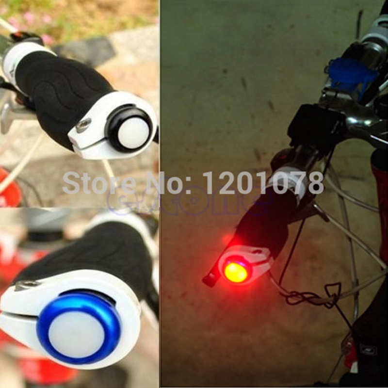 1Pair Safety Cycling Bike Turn Signal Handle Bar End Plug LED Red Light Lamp Hot Sale JUN08