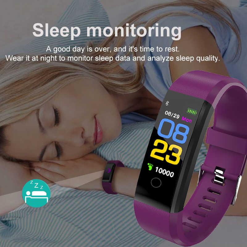 GEJIAN ฟิตเนสสมาร์ทนาฬิกาผู้ชายผู้หญิง Pedometer Heart Rate Monitor กันน้ำ IP67 วิ่งกีฬานาฬิกาสำหรับ Android IOS