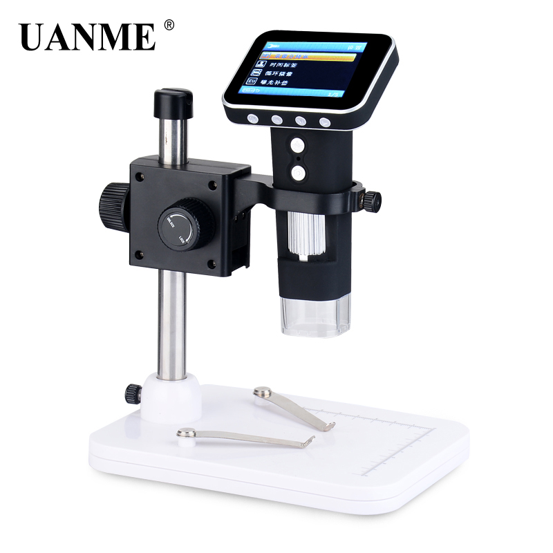 купить UANME Portable USB Digital Mobile Microscope LCD Screen Metal Stand Handheld Magnifier S02 Drop ship по цене 3025.21 рублей