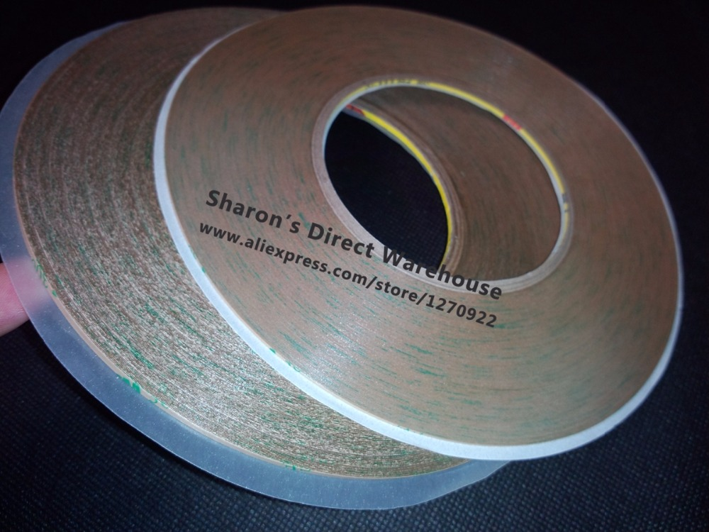 Mixed 3mm+4mm*55M Strong 3M 9495LE 300LSE Two Sides Clear Sticky Tape for Cell Phone Tablet Glass Screen Frame Lens Bond 1x 29mm 55m 3m 9495le 300lse clear double sided super strong adhesive tape for phone lcd frame jointing lens bond
