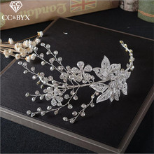 CC Jewelry crowns and tiaras tiara wedding hair accessories for crown hair crown party women handmade bride jewellery gift HG350