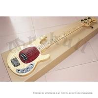 China Factory 4 Strings Music Man Erime Ball StingRay Bass Guitar Wood Color