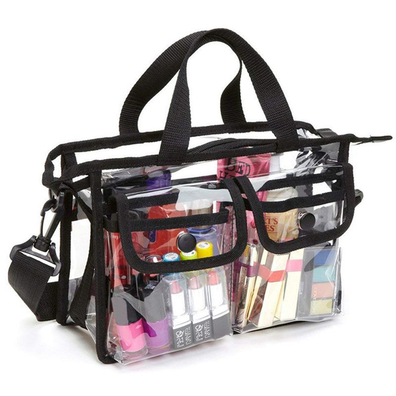 Clear Cross-Body Shoulder Bag,Toiletry Organizer Wash Bag - Stadium Approved Purse