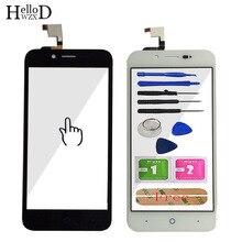 Tela de toque para zte blade l4, painel digitalizador, sensor de vidro touch para zte blade l4 a460, ferramentas de tela sensível ao toque adesivo