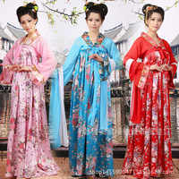 Women Tang Dynasty Performance Costume Fairy Ancient Princess Classical Hanfu Chinese Folk Dance Traditional Costume Dress