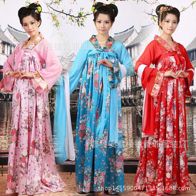 Las mujeres de La Dinastía Tang Traje Del Funcionamiento de la Princesa de Hadas Antiguo Hanfu Clásica Danza Folk Chino Tradicional Traje Vestido L183