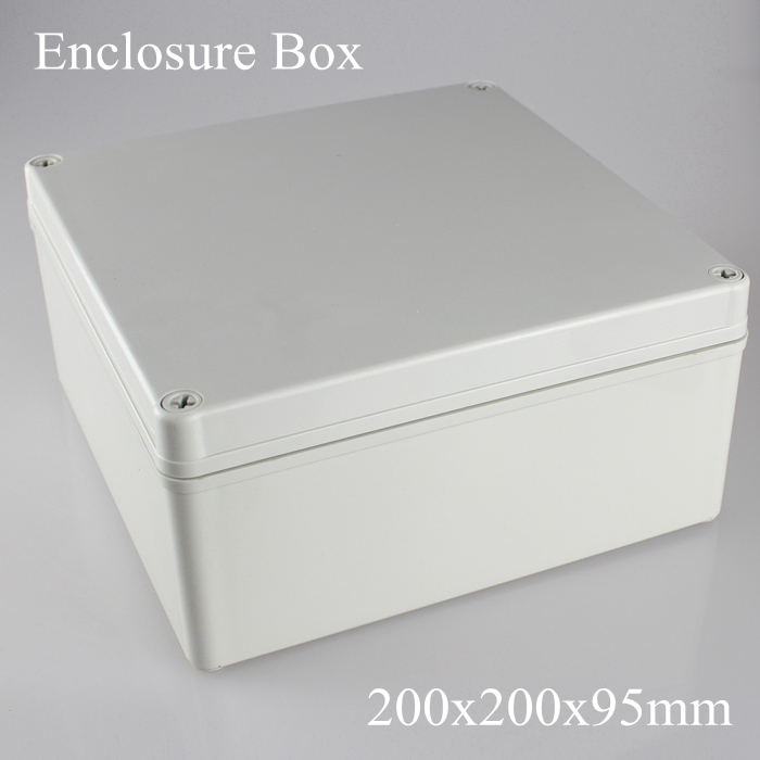 200*200*95MM IP67 ABS electronic enclosure box  Distribution control network cabinet switch junction outlet case 200x200x95MM 175 175 100mm ip67 abs electronic enclosure box distribution control network cabinet switch junction outlet case 175x175x100mm