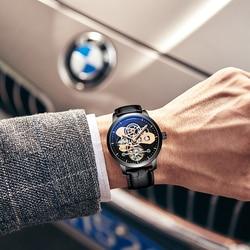 2018 latest design jaragar watch men automatic mechanical tourbillon saat sport binger diver men pilot watch mechanism reloj