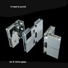 Zinc alloy cabinet glass door hinges Wine Door Hinge for Cabinet Cupboard Glass Clamps No Drilling