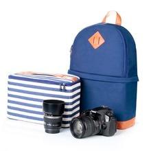 Nueva marca de llegada 2 colores foto fotografía Digital DSLR Camera Bag cámara de la lona impermeable mochila mochila para Nikon Sony Canon