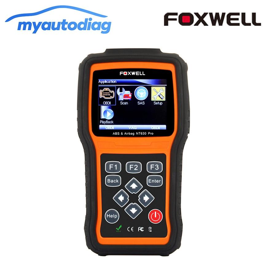 OBD2 Diagnose Werkzeug Foxwell NT630 Pro Auto Motor Code Reader Scanner + ABS + SRS Airbag + SAS OBD2 OBD II Automotive Scanner Auto