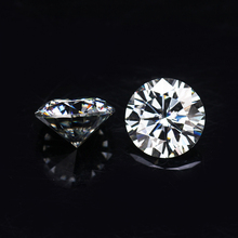 Sales Round Brilliant Cut 1ct 6.5mm IJ Color Lab Created Moissanites For Engagement Rings
