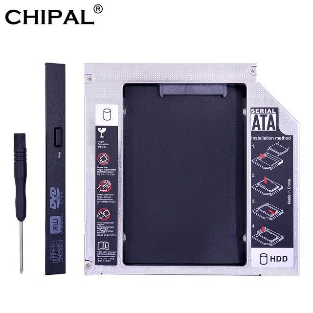 "CHIPAL Original Foxconn Chip PATA IDE a SATA 3,0 2nd HDD Caddy 12,7mm para 2,5 ""SSD duro caso carcasa de disco para ordenador portátil CD-ROM"