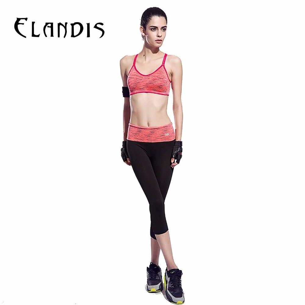 FLANDIS Yoga Pants Fitness Wear Women 3/4 Length Sport