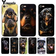 Yinuoda For iPhone 7 6 X Case Cute Dog Puppy Rottweiler Drawing TPU Phone Case for iPhone X 8 7 6 6S Plus X 5 5S SE XR XS XSMAX(China)