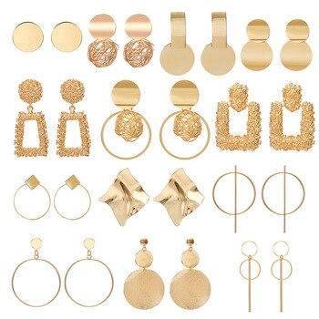 Fashion Statement Earrings 2019 Big Geometric earrings For Women Hanging Dangle Earrings Drop Earing modern Jewelry Apparels Earrings Fashion Jewellery Women