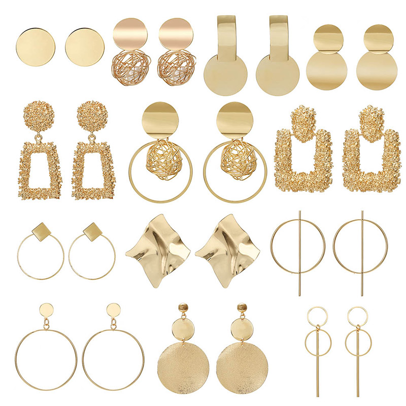 Fashion Statement Earrings 2020 Big Geometric Earrings For Women Hanging Dangle Earrings Drop Earing Modern Jewelry