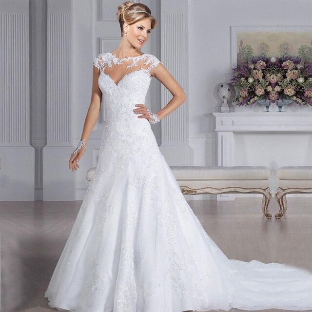 Aliexpress Com Buy Vestidos De Novia 2018 Brautkleid Lace A Line