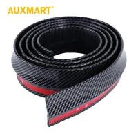 Auxmart 2.5M*6CM Black Soft Carbon Fiber Car Rubber Bumper Strip Outside Bumper Exterior Front Bumper Lip Kit Car bumper Strip