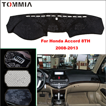 Tommia Car Dashboard Cover Mat Light Avoid Pad Photophobism Anti-slip protection Mat For Honda Accord 8th 2008-2013
