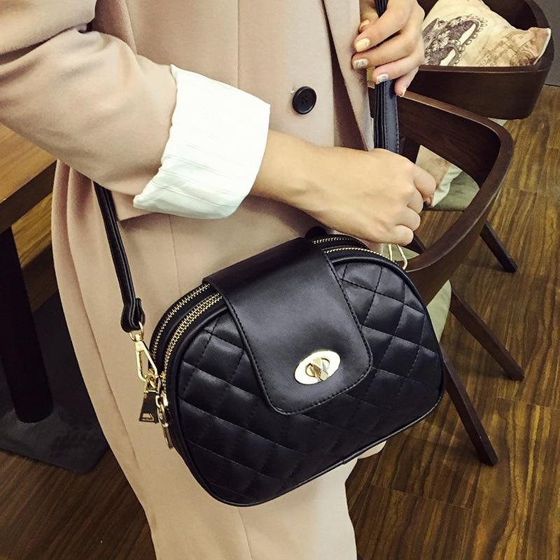 ახალი 2017 Black Shell Plaid Fashion Women - ჩანთები - ფოტო 3