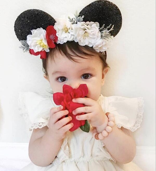 1pcs New Sequin Big Bow Hair Accessories Cute Mouse Ears Bowknot Children Headband Holiday Party haimeikang new arrival 12 color big bowknot sequins headband for girl mouse ears hair hoop headwear hair accessories