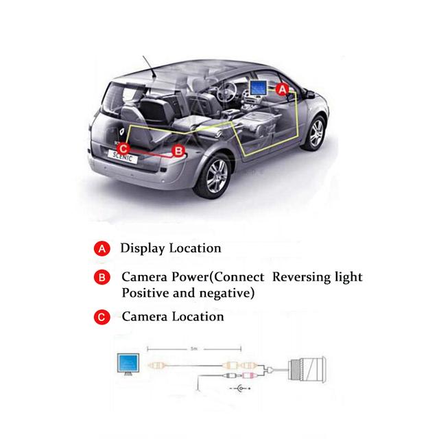 Car Monitor 4.3″ Screen For Rear View Reverse Camera TFT LCD Display HD Digital Color 4.3 Inch PAL/NTSC