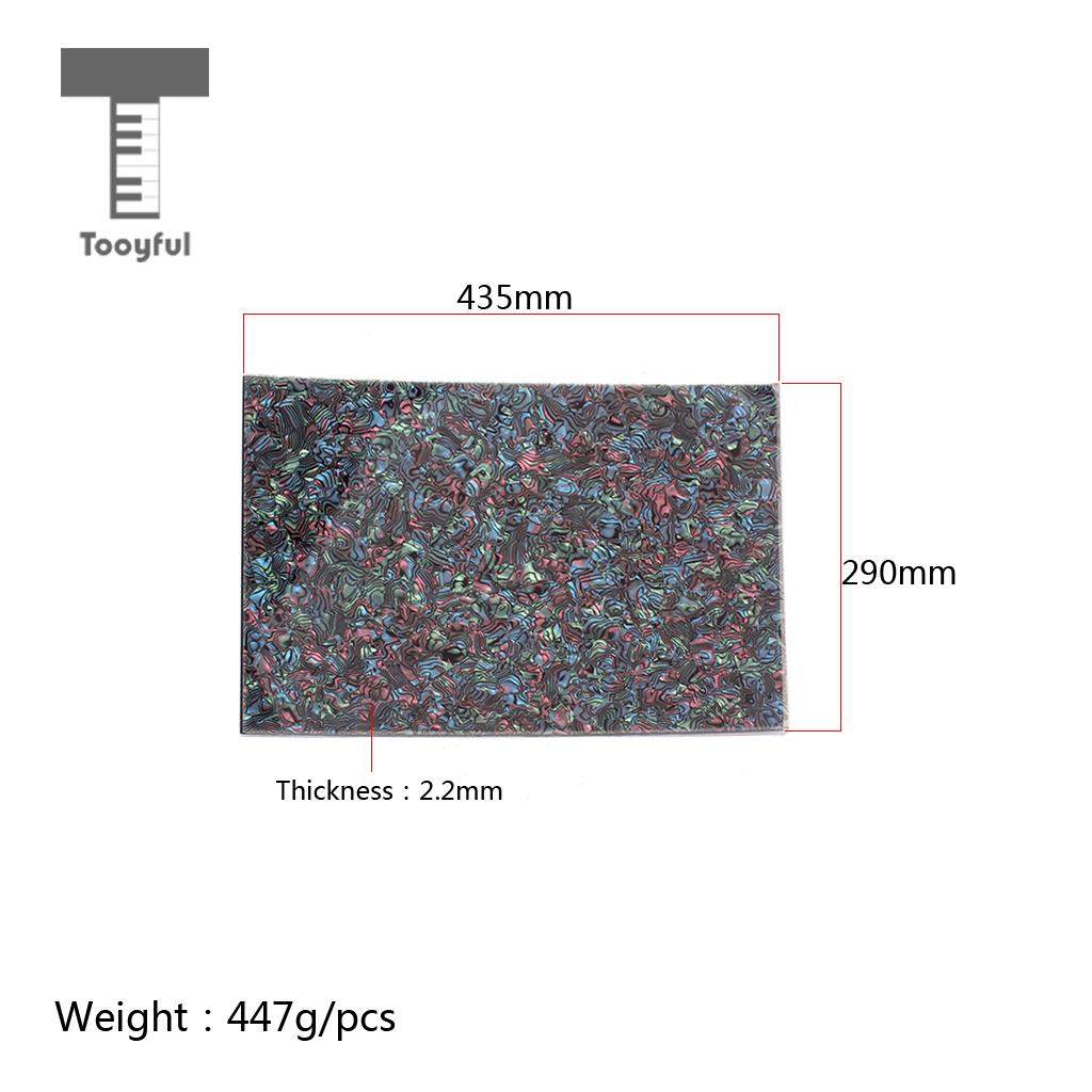 Tooyful Pvc Plastic Abalone Shell Pickguard Inlay Shell Custom