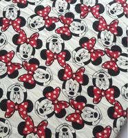 Minnie Single Cashmere Cartoon Cotton Fabric Cloth For Patchwork Material KID CLOTHES Sweater