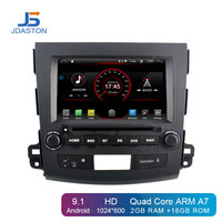 JDASTON Android 9.1 Car DVD Player For Mitsubishi Outlander 2008 2014 Peugeot 4007 Citroen Multimedia GPS 2 Din Car Radio Stereo