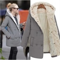 Discount new winter with thick cotton padded clothes coat medium long cotton padded jacket to keep warm winter jacket